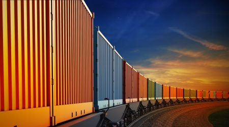 3d,Illustration,Of,Wagon,Of,Freight,Train,With,Containers,On